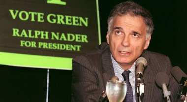 US consumer rights activist Ralph Nader shown in a